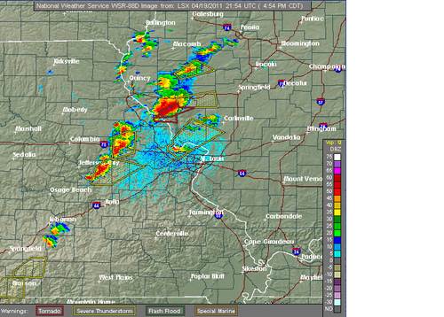 Storms Breaking Out In Missouri & Illinois -- Severe Episode