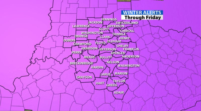 Snow Bursts In the Metro    Late Evening Update - WDRB