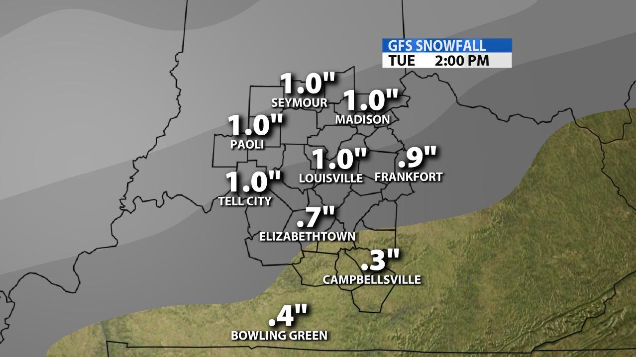 Very Complicated Forecast Through Tomorrow    Snowfall Accumulations