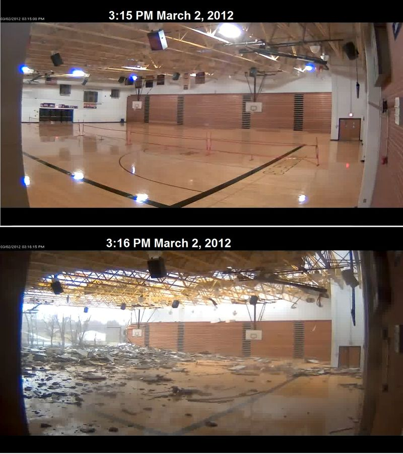 Henryville HS before and after