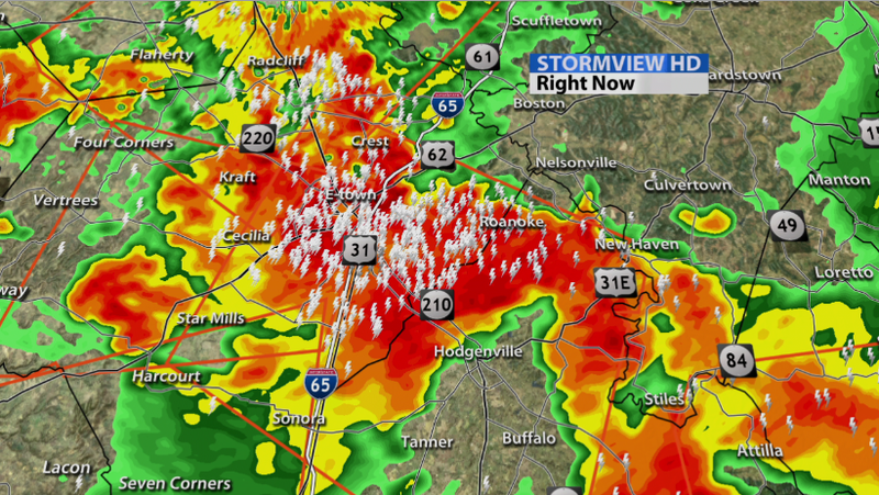 Lightning Fest In E-town Right Now! - WDRB Weather Blog