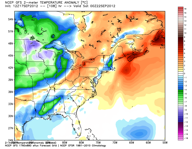 GFS Temperature Anomoly 2