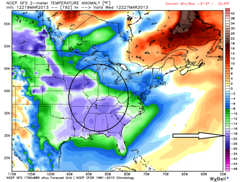 Gfs temperature anomoly 5
