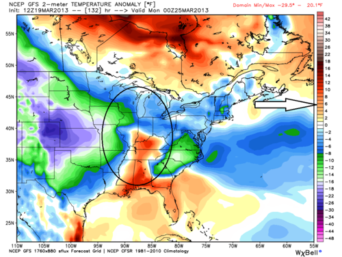 Gfs temperature anomoly 3