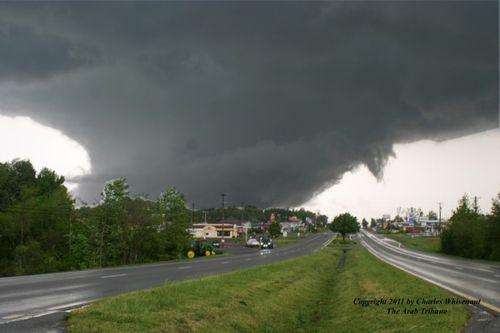 Image of a strong tornado near Arab Ala Credit Charles Whisenant