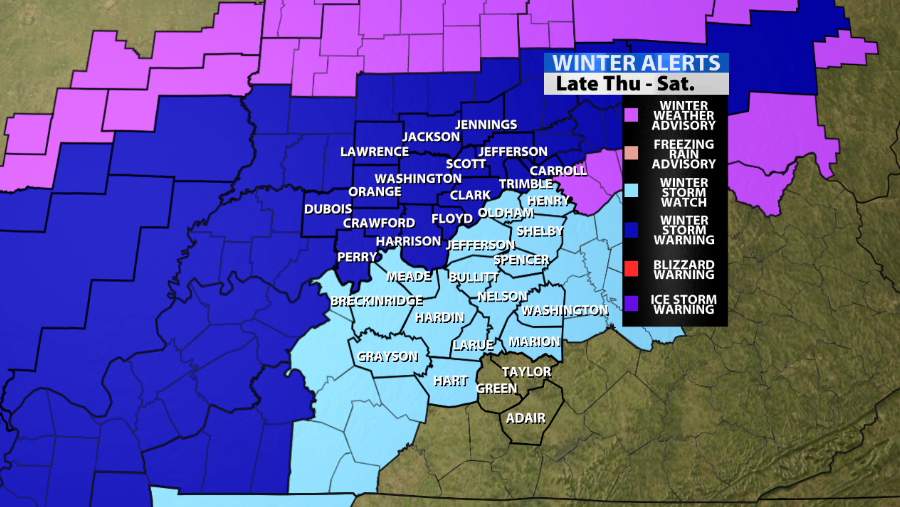 Winter Storm Warnings Have Been Posted For Parts Of The Area