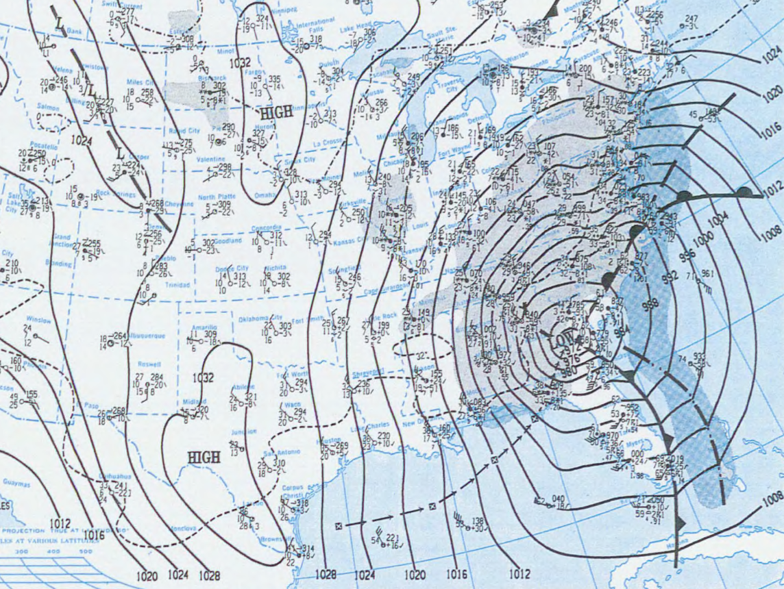 Today Is The Anniversary Of One Of The Great Weather Events In US - Us weather map hourly