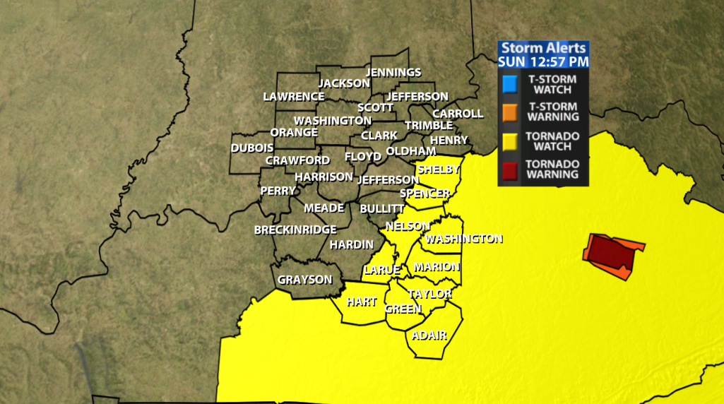 A Tornado Watch Has Been Posted For Our Area! - WDRB Weather Blog