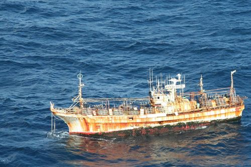 Japan-tsunami-adrift-fishing-vessel