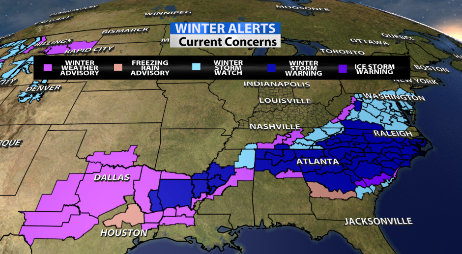 Crippling Ice Storm Expected To Impact Southeast WDRB Weather Blog - Us fronts map before ice storm