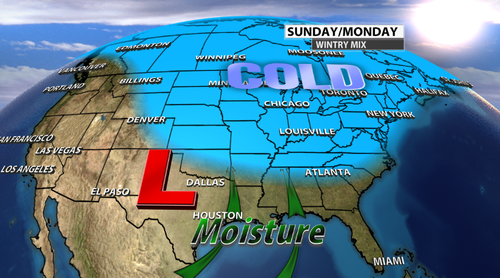 A Wintry Mix Possible This Weekend! Here Is The Latest ...