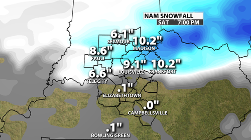 Snowfall projection nam