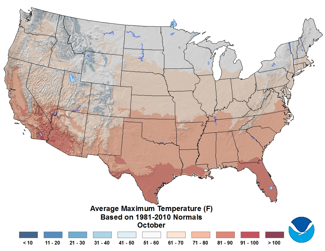 NOAA Americas Spooktacular October Climate WDRB Weather Blog - Us weather map october
