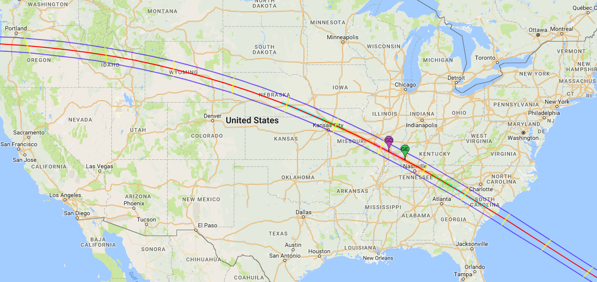 Interactive Solar Eclipse Map How Much Of The Sun Will Be Blocked - Solar location map