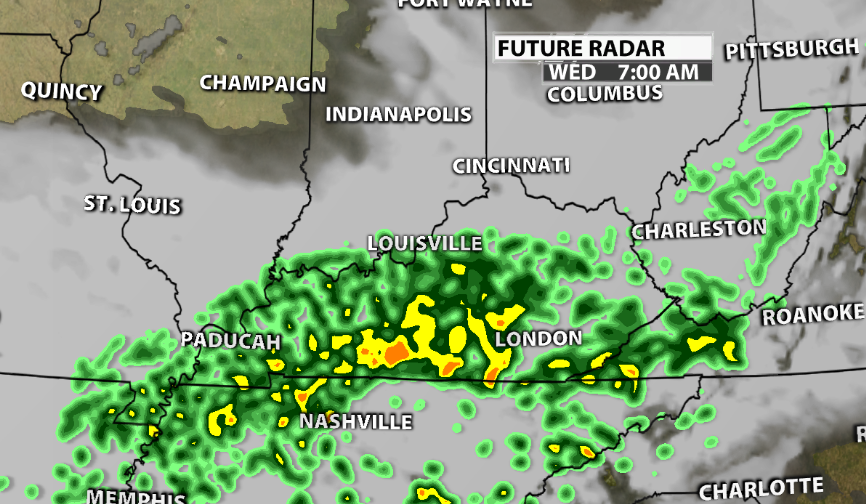 Rain Train Arrives For Valentines Day - WDRB Weather Blog