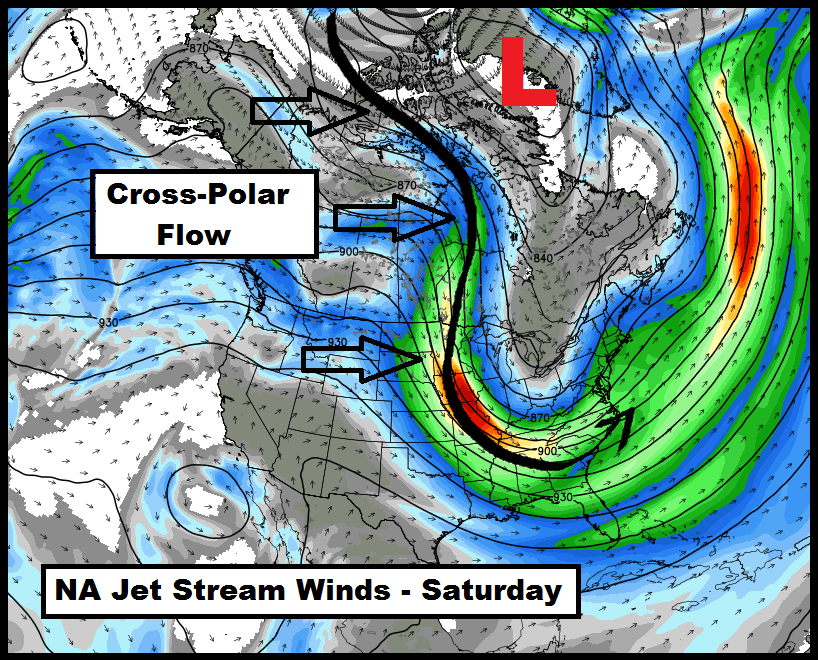Cross-Polar Flow to Bring Historically Cold Valentine's