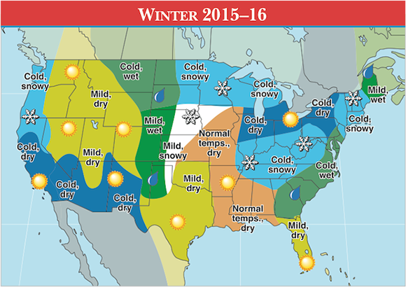 Wdrb weather blog september 2015 the old farmers almanacs winter weather map for 2016 sciox Images