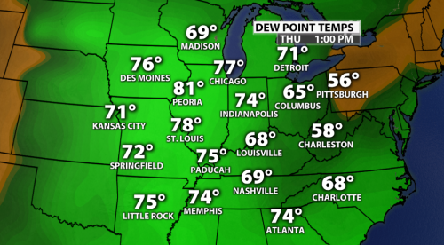 7-21 regional dew points
