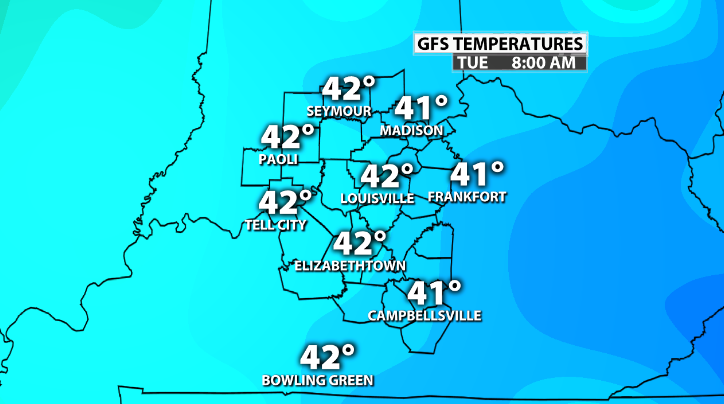 BIG DROP! When To Expect Temps In The 30's    - WDRB Weather