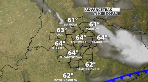 Cold Front Tonight: Temperature Changes and a Rain Chance - WDRB